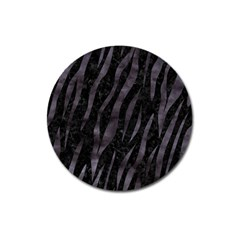 Skin3 Black Marble & Black Watercolor Magnet 3  (round) by trendistuff