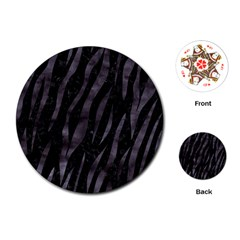 Skin3 Black Marble & Black Watercolor Playing Cards (round) by trendistuff