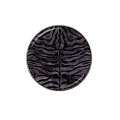 Skin2 Black Marble & Black Watercolor (r) Hat Clip Ball Marker by trendistuff
