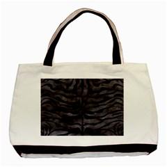 Skin2 Black Marble & Black Watercolor (r) Basic Tote Bag (two Sides) by trendistuff