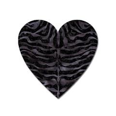 Skin2 Black Marble & Black Watercolor Magnet (heart) by trendistuff