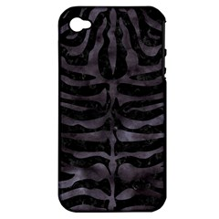 Skin2 Black Marble & Black Watercolor Apple Iphone 4/4s Hardshell Case (pc+silicone) by trendistuff