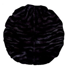 Skin2 Black Marble & Black Watercolor Large 18  Premium Flano Round Cushion  by trendistuff