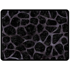 Skin1 Black Marble & Black Watercolor (r) Double Sided Fleece Blanket (large) by trendistuff