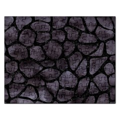 Skin1 Black Marble & Black Watercolor Jigsaw Puzzle (rectangular) by trendistuff