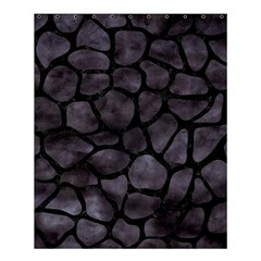 Skin1 Black Marble & Black Watercolor Shower Curtain 60  X 72  (medium) by trendistuff