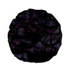 Skin1 Black Marble & Black Watercolor Standard 15  Premium Round Cushion  by trendistuff