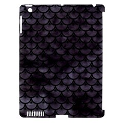 Sca3 Bk Mrbl Bk Wclr (r) Apple Ipad 3/4 Hardshell Case (compatible With Smart Cover) by trendistuff