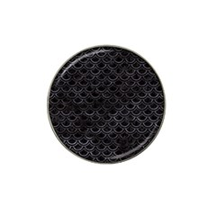 Scales2 Black Marble & Black Watercolor Hat Clip Ball Marker (4 Pack) by trendistuff
