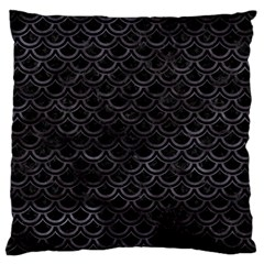 Scales2 Black Marble & Black Watercolor Large Flano Cushion Case (two Sides) by trendistuff