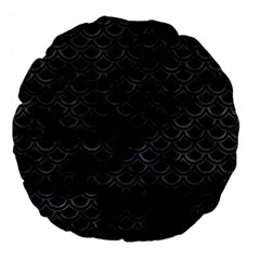 Scales2 Black Marble & Black Watercolor Large 18  Premium Flano Round Cushion  by trendistuff