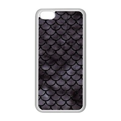 Scales1 Black Marble & Black Watercolor (r) Apple Iphone 5c Seamless Case (white) by trendistuff