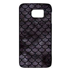 Scales1 Black Marble & Black Watercolor (r) Samsung Galaxy S6 Hardshell Case