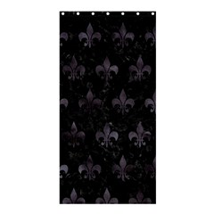Royal1 Black Marble & Black Watercolor (r) Shower Curtain 36  X 72  (stall) by trendistuff
