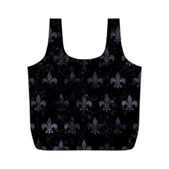 Royal1 Black Marble & Black Watercolor (r) Full Print Recycle Bag (m) by trendistuff