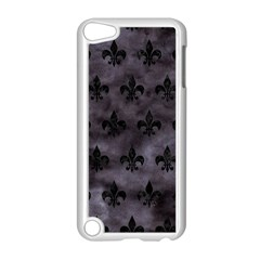 Royal1 Black Marble & Black Watercolor Apple Ipod Touch 5 Case (white) by trendistuff