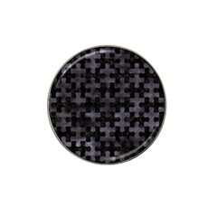 Puzzle1 Black Marble & Black Watercolor Hat Clip Ball Marker (4 Pack) by trendistuff