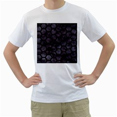 Hexagon2 Black Marble & Black Watercolor (r) Men s T Shirt (white) (two Sided) by trendistuff