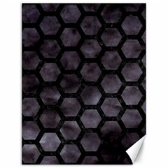 Hexagon2 Black Marble & Black Watercolor (r) Canvas 12  X 16  by trendistuff