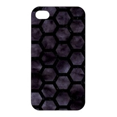 Hexagon2 Black Marble & Black Watercolor (r) Apple Iphone 4/4s Hardshell Case by trendistuff