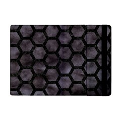 Hexagon2 Black Marble & Black Watercolor (r) Apple Ipad Mini Flip Case by trendistuff