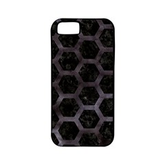 Hexagon2 Black Marble & Black Watercolor Apple Iphone 5 Classic Hardshell Case (pc+silicone) by trendistuff