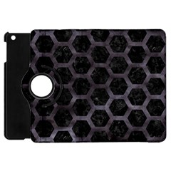 Hexagon2 Black Marble & Black Watercolor Apple Ipad Mini Flip 360 Case by trendistuff