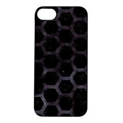 Hexagon2 Black Marble & Black Watercolor Apple Iphone 5s/ Se Hardshell Case by trendistuff