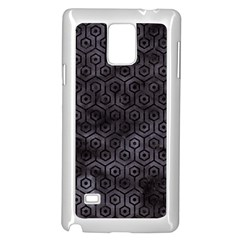 Hexagon1 Black Marble & Black Watercolor (r) Samsung Galaxy Note 4 Case (white) by trendistuff