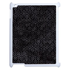 Hexagon1 Black Marble & Black Watercolor Apple Ipad 2 Case (white) by trendistuff