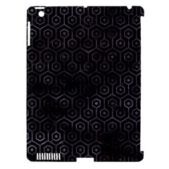 Hexagon1 Black Marble & Black Watercolor Apple Ipad 3/4 Hardshell Case (compatible With Smart Cover) by trendistuff