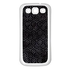 Hexagon1 Black Marble & Black Watercolor Samsung Galaxy S3 Back Case (white) by trendistuff