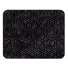 Hexagon1 Black Marble & Black Watercolor Double Sided Flano Blanket (large)