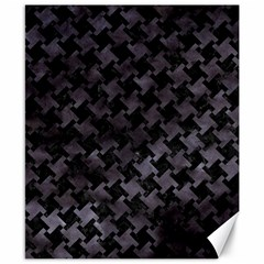 Houndstooth2 Black Marble & Black Watercolor Canvas 8  X 10  by trendistuff