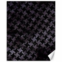 Houndstooth2 Black Marble & Black Watercolor Canvas 11  X 14  by trendistuff
