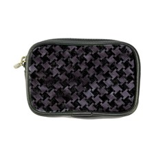 Houndstooth2 Black Marble & Black Watercolor Coin Purse by trendistuff