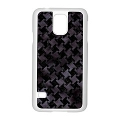 Houndstooth2 Black Marble & Black Watercolor Samsung Galaxy S5 Case (white) by trendistuff
