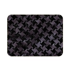 Houndstooth2 Black Marble & Black Watercolor Double Sided Flano Blanket (mini)