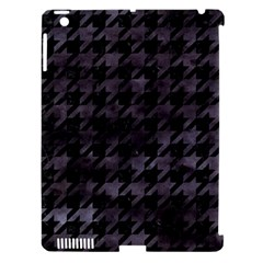 Houndstooth1 Black Marble & Black Watercolor Apple Ipad 3/4 Hardshell Case (compatible With Smart Cover) by trendistuff