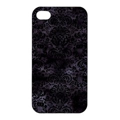 Damask2 Black Marble & Black Watercolor (r) Apple Iphone 4/4s Hardshell Case by trendistuff