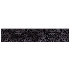 Damask2 Black Marble & Black Watercolor (r) Flano Scarf (small) by trendistuff