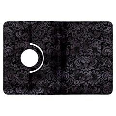 Damask2 Black Marble & Black Watercolor Kindle Fire Hdx Flip 360 Case by trendistuff