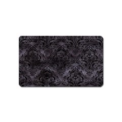 Damask1 Black Marble & Black Watercolor (r) Magnet (name Card) by trendistuff