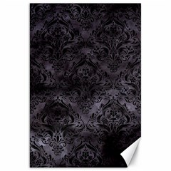 Damask1 Black Marble & Black Watercolor (r) Canvas 20  X 30  by trendistuff