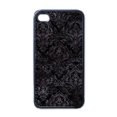 Damask1 Black Marble & Black Watercolor Apple Iphone 4 Case (black) by trendistuff
