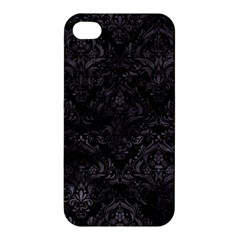 Damask1 Black Marble & Black Watercolor Apple Iphone 4/4s Hardshell Case by trendistuff