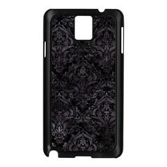Damask1 Black Marble & Black Watercolor Samsung Galaxy Note 3 N9005 Case (black) by trendistuff