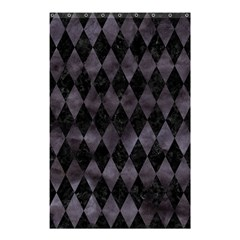 Diamond1 Black Marble & Black Watercolor Shower Curtain 48  X 72  (small) by trendistuff