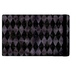 Diamond1 Black Marble & Black Watercolor Apple Ipad 2 Flip Case by trendistuff