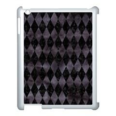 Diamond1 Black Marble & Black Watercolor Apple Ipad 3/4 Case (white) by trendistuff
